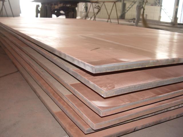 钢厂导电臂用TU1+Q245R无氧铜/钢爆炸复合板